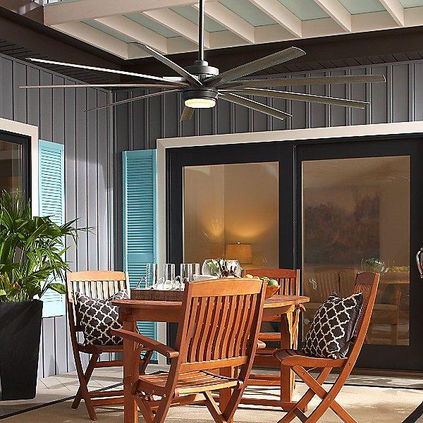 Odyn LED Indoor/Outdoor Ceiling Fan