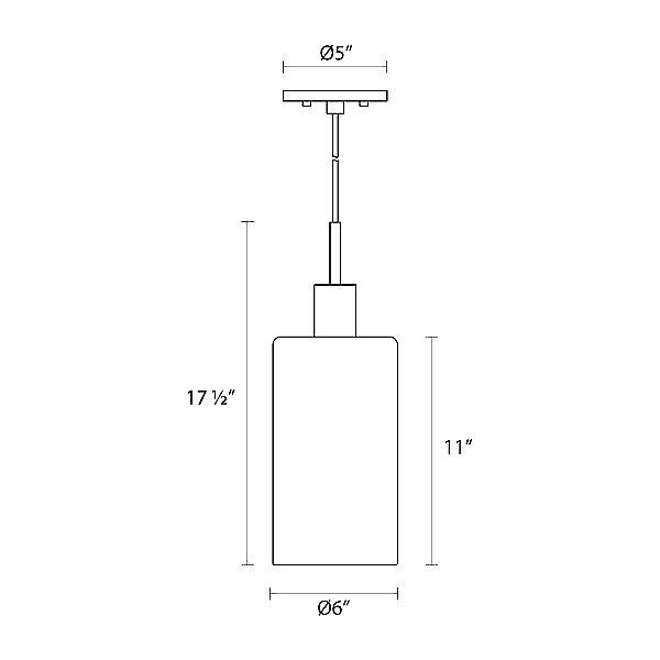 Glass Pendants Cylinder Pendant Light