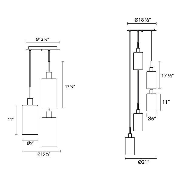 Glass Multi-Light Pendant Light