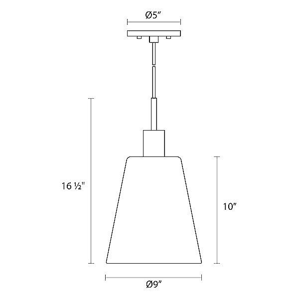 Glass Pendants Tall Cone Pendant Light