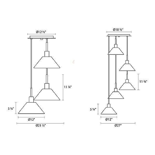 Glass Pendants Cone Pendant Light