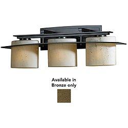 Arc Ellipse 2 Light Wall Sconce (Stone/Bronze/Incandescent/3 Lights) - OPEN BOX RETURN