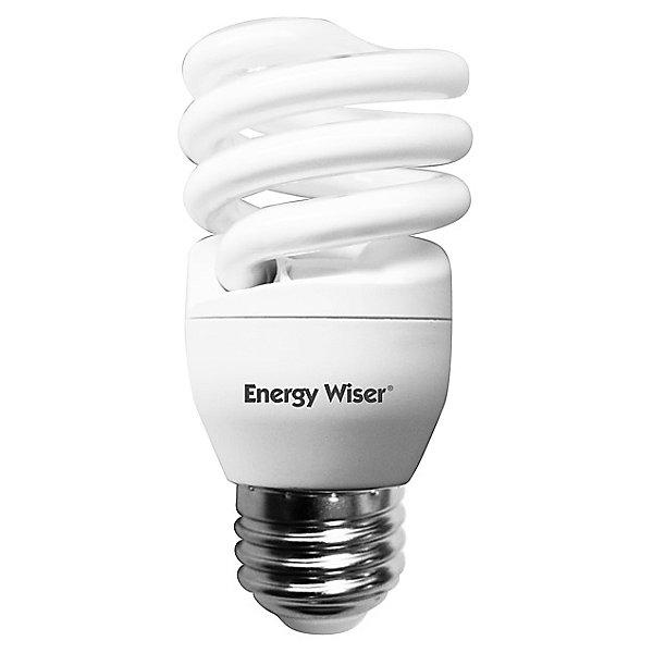 23W 120V T2 E26 Mini Spiral CFL Bulb