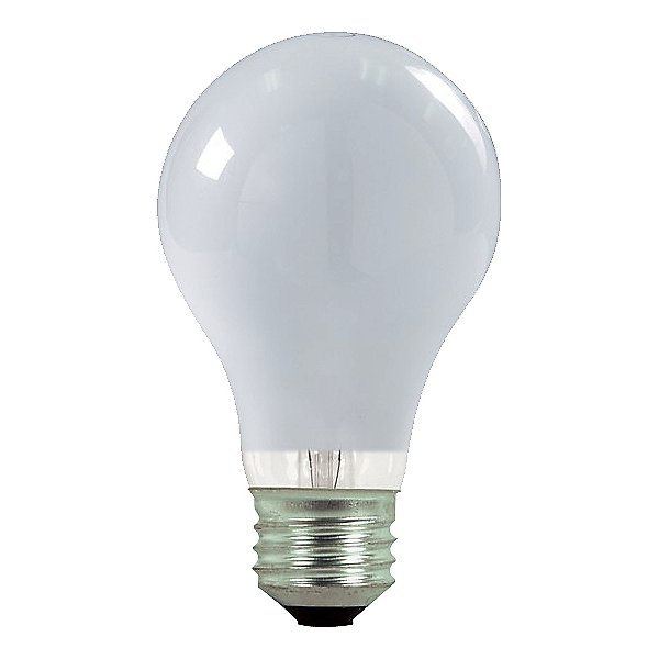 29W 120V A19 E26 Halogen White Bulb (2 Pack)