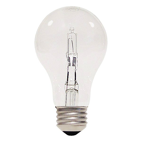 53W 120V A19 E26 Clear Halogen Bulb (2-PACK)