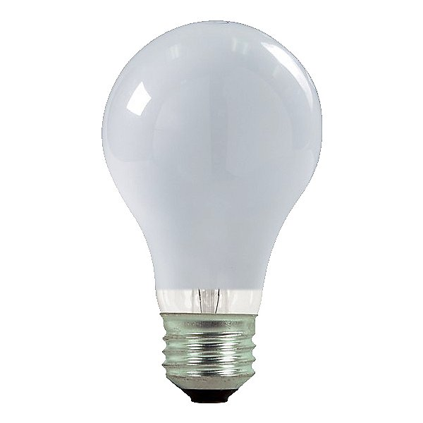 53W 120V A19 E26 White Halogen Bulb (2-PACK)