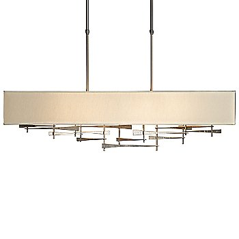 Shown in Burnished Steel finish, Natural Anna Shade color