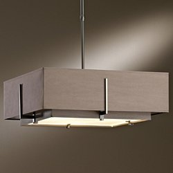 Exos Square Double Shade Pendant Light