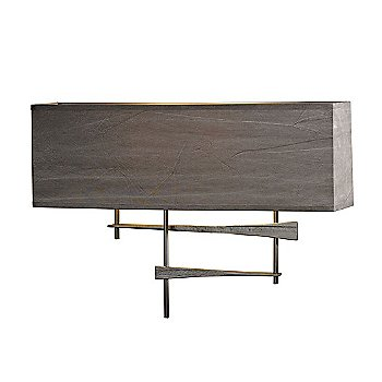 Shown in Burnished Steel finish, Flax Shade color