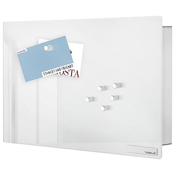 Velio Glass Magnet Board Organizer with Hooks