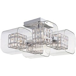 Jewel Box 4 Light Semi Flush Mount Ceiling Light