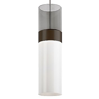 Transparent Smoke Top shade with White Bottom shade / Antique Bronze with Antique Bronze finish