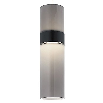 Smoke Top shade with Smoke Bottom shade / Black with Satin Nickel finish