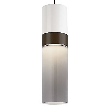 White Top shade with Smoke Bottom shade / Antique Bronze with Antique Bronze finish