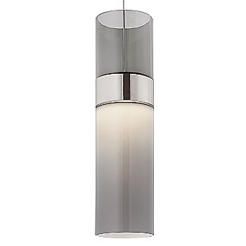 Transparent Smoke Top shade with Smoke Bottom shade / Satin Nickel with Satin Nickel finish