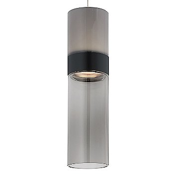 Smoke Top shade with Transparent Smoke Bottom shade / Black with Satin Nickel finish