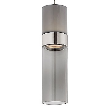 Smoke Top shade with Transparent Smoke Bottom shade / Satin Nickel with Satin Nickel finish