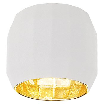White with Gold finish