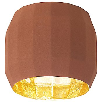 Terracotta with Gold finish