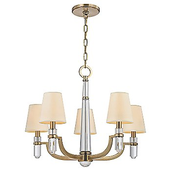 Shown in Aged Brass finish, Cream shade