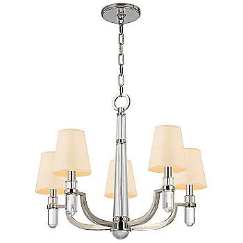 Shown in Polished Nickel finish, Cream shade