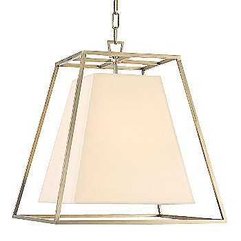 Shown in Aged Brass finish, Cream Eco-Paper shade, Small size