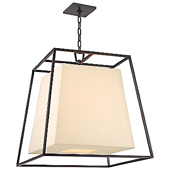 Shown in Old Bronze finish, Cream Eco-Paper shade, Large size
