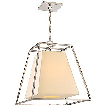 Shown in Polished Nickel finish, Cream Shade, Small size