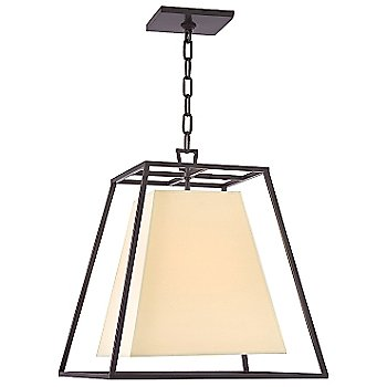 Shown in Old Bronze finish, Cream Eco-Paper shade, Small size