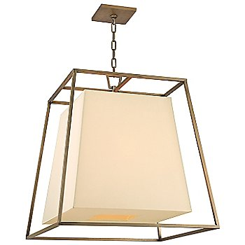 Shown in Aged Brass finish, Cream shade, Large size