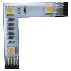 INVISILED Pro 24V White 3 LED L Connector