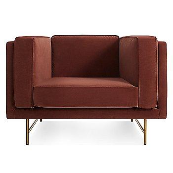 Mahogany Velvet color / Brass finish