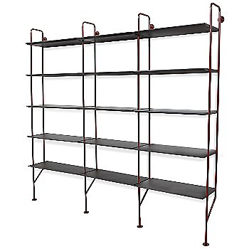 Shown in FLW Red finish, Smoke shelves (2 Add-Ons shown)