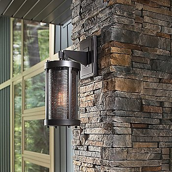 Bluffton Outdoor Wall Sconce / in use