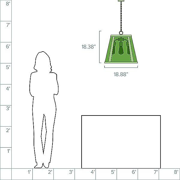 Harrow 3 Light Pendant Light