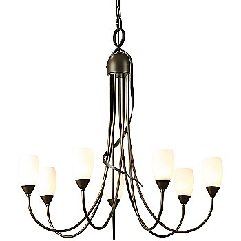 Shown in Bronze finish, Opal shade  color
