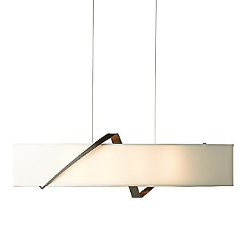 Shown in Bronze finish, Flax Shade color
