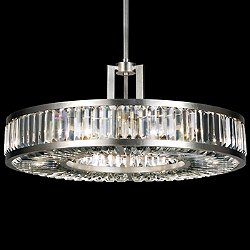 Crystal Enchantment Drum Pendant Light