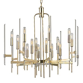Aged Brass finish / 16 Light option
