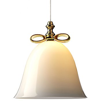 Shown in White with Gold Finish, Large