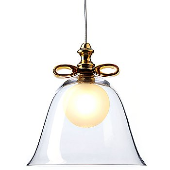 Shown in Transparent with Gold Finish, Large
