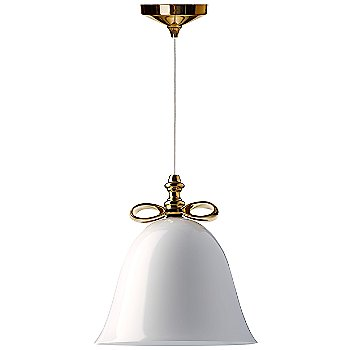 Shown in White with Gold Finish, Large (unlit)