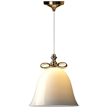 Shown in White with Gold Finish, Large (lit)