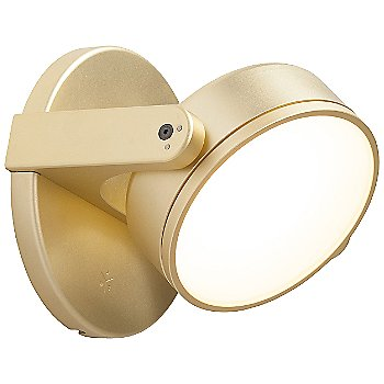 Shown in Gold finish with Flat lens