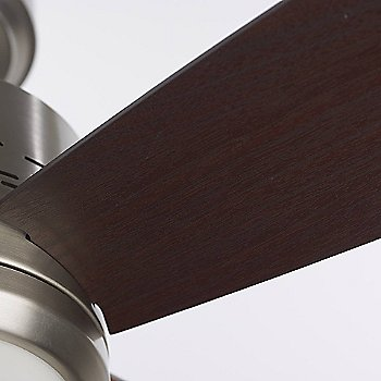 Shown in Brushed Steel with Dark Mahogany blades