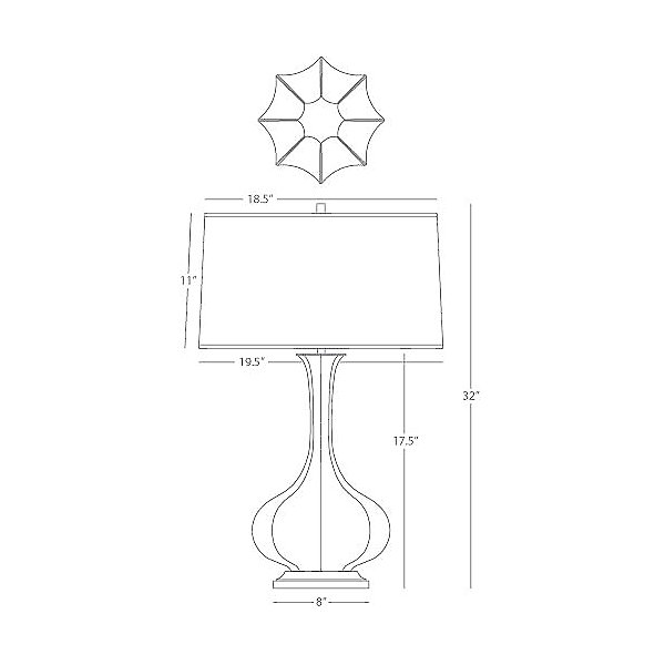 Pike Base Table Lamp