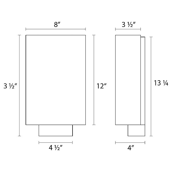 Link Tall LED Wall Sconce