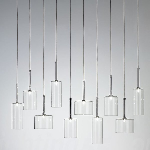 Spillray 10 Light Linear Pendant Light