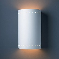 Cylinder Outdoor Wall Sconce (Perforations/Large) - OPEN BOX