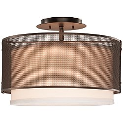 Uptown Mesh Semi-Flush Mount Ceiling Light
